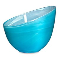 "SEA Candy Bowl Blue - Kosta Boda - 5.25"" w - Hand Blown Glass from Turkey - SEA Glasbruk Collection"