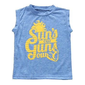 Sun's Out Guns Out Top