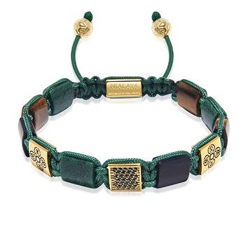 The Dorje Flatbead Collection - Green African Jade, Matte Onyx, and Brown Tiger Eye