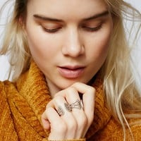 Free People White Wave Open Ring