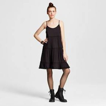 Women's Solid Tiered Babydoll Dress - Mossimo Supply Co. ™ (Junior's)
