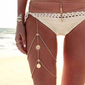 Leg chains boho anklet body jewelry