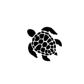 Sea Turtle Decal Sticker Beach Hawaii Sea Turtle Car Window Bumper Body Decal Sticker