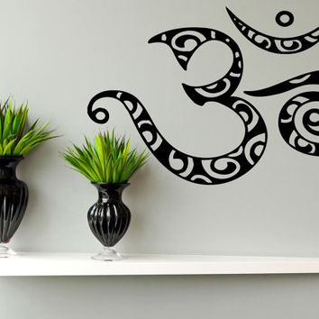 Wall Decal Sticker Room Mural Design Art Om Abstract Symbol Sign Decor Yoga Amulet 1342