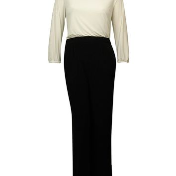 Jessica Howard Women's Color Block Keyhole Jersey Jumpsuit