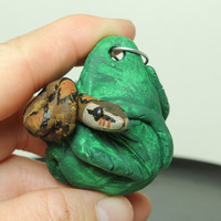 Ball Python Christmas ornament Mini Pottery ornament