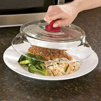 Glass Microwave Plate Cover @ Fresh Finds