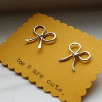 Supermarket - Sterling Silver Bow Studs from Rachel Pfeffer Designs