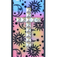Sun & Moon Silver Studded Cross iPhone 5/5s Case