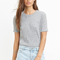 Ribbed Knit Tee