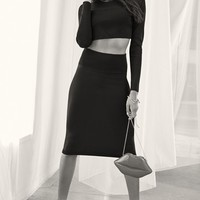 KENDALL + KYLIE Crop Sweater & Pencil Skirt | Nordstrom