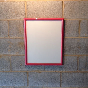 Vintage Framed Whiteboard - Dry Erase Board, Pink, Wedding, Beach Decor, Girl's Room, Engagement, Classroom, School, Dorm