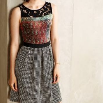 Galina Print Dress by Weston Wear Red Motif