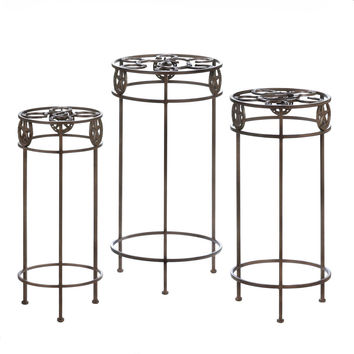 Tall Plant Stand, Table Plant Stand For Office And Patio (set Of 3)