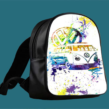 Volkswagen Kombi - Splash for Backpack / Custom Bag / School Bag / Children Bag / Custom School Bag *