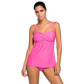 Rosy 2pcs Swing Tankini Swimsuit