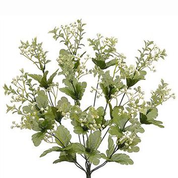 "Artificial Wild Baby's Breath Bush in White - 19"" Tall"