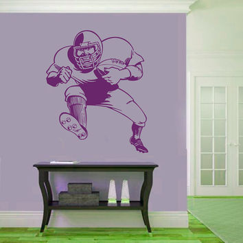 Wall Decals Sport  American Football Footballer Athlete Player Sports Game Sportsman Sporting Event Home Decor Vinyl Decal Sticker  ML129