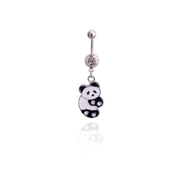 New Charming Dangle Crystal Navel Belly Ring Bling Barbell Button Ring Piercing Body Jewelry = 4804900740