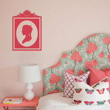 Cameo Silhouette Removable Wall Art Vinyl