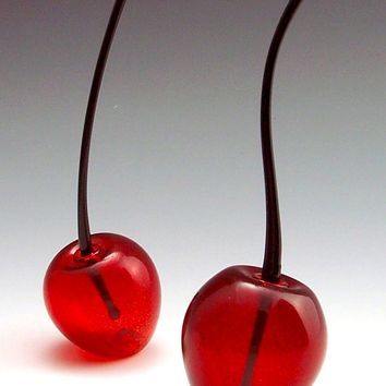 Cherry Perfume Bottle by Garrett Keisling: Art Glass Perfume Bottle | Artful Home