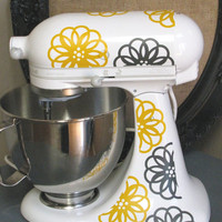 Kitchen Aid Vinyl Decals-Spirograph Flower
