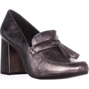 Kenneth Cole REACTION Happy Change Loafer Heels, Hematite, 6 US / 36 EU