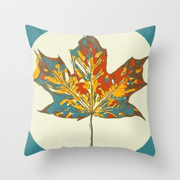 Leave Throw Pillow by Taoteching / C4Dart
