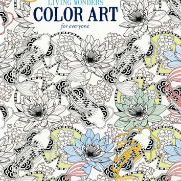 Living Wonders Color Art For Everyone Adult Coloring Book Soft Cover