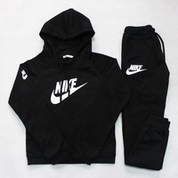 DCCKFC8 Nike' Casual Hoodie Sweater Pants Trousers Set Two-Piece