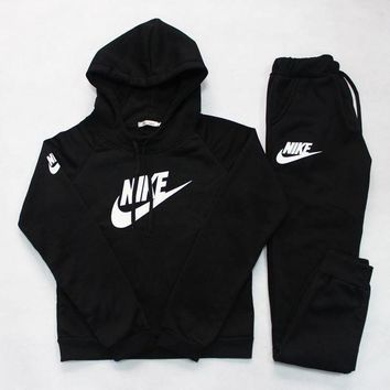 ICIKID4 Nike' Casual Hoodie Sweater Pants Trousers Set Two-Piece