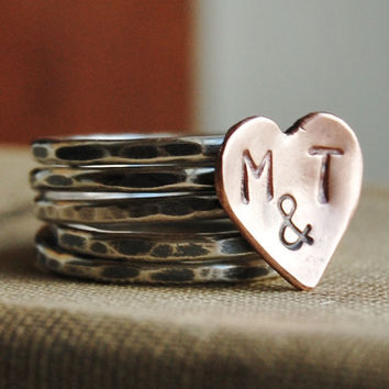 Rustic Romance Sterling Silver Stacking Ring by lovestrucksoul