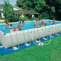 Intex 32 foot x 16 foot x 52 foot Rectangular Ultra Frame Pool