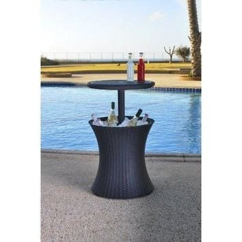 Cool Bar Ice Cooler Table Garden Furniture Pacific Rattan Style Garden Furniture