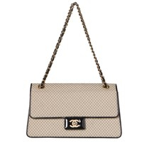 Chanel Beige and Black Two-Tone Large Flap Bag.  Stunning!