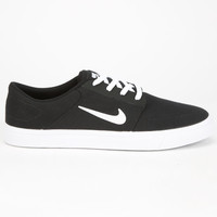 Nike Sb Portmore Canvas Mens Shoes Black/White  In Sizes