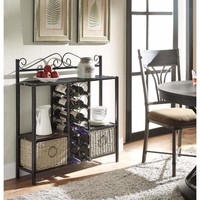 WINDSOR Storage Towel/Wine Rack w/ 2 Baskets -4DC Concepts