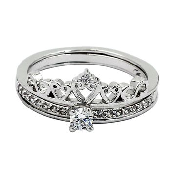 crown wear two crystal rings