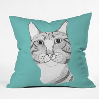 Casey Rogers Tabby Cat Throw Pillow