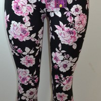 Shosho Womens Floral Print Leggings