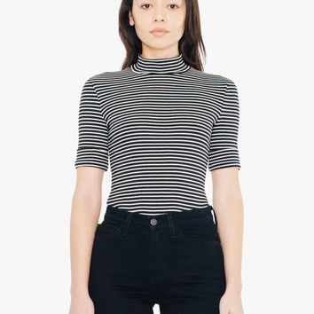 Striped 9x1 Rib Stevie Top | American Apparel