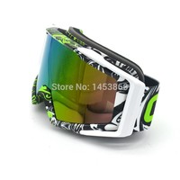 Graffiti Motorbike Racing Goggles Dustproof Cycling Bicycle Bike Motocross Outdoor Google Motorcycle Eyewear Goggle