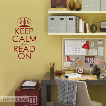 Keep Calm and Read On Vinyl Wall Art FREE Shipping by showcase66