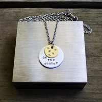 Be the Change - Leaves - Autumn - Leaf - Fall - Brass - Looks Like Silver - Quote - Gandhi - Rustic - Modern - Circle - Geometric