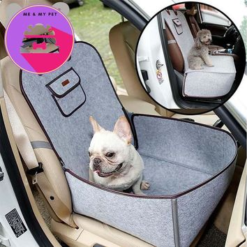Pet Car Seat Cover Waterproof Puppy Basket Anti-Silp Pet Car Carrier Dog Cat Car Booster Outdoor Travel Car Seat Pet Protector