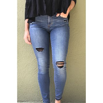 Articles of Society Sarah Released Hem Skinny Jean- Mead
