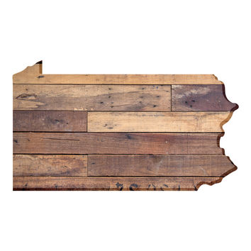 Pennsylvania Faux Wooden wall decal