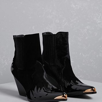 Velvet Ankle Boot