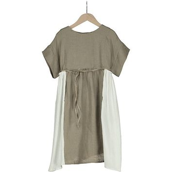 9f77f26f9ab Belle Chiara Girls  Verdi Natural Linen Dress
