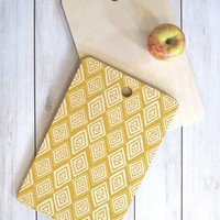 Heather Dutton Diamond In The Rough Gold Cutting Board Rectangle